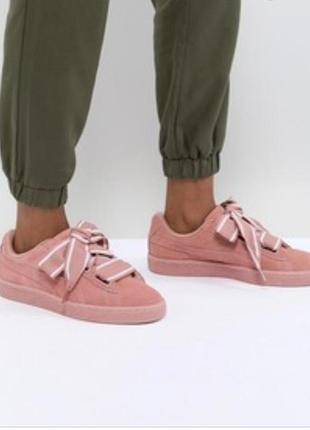 Puma кроссовки кеды сникерсы розовые натуральная замша