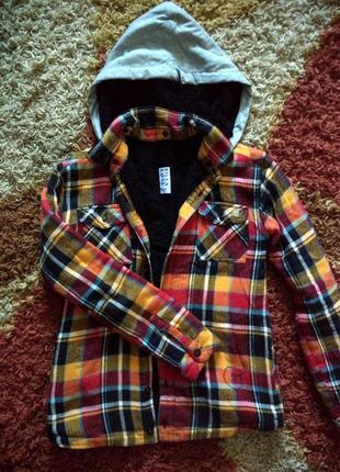 Курточка, на меху, куртка, с капюшоном, демисезон, утепленная куртка