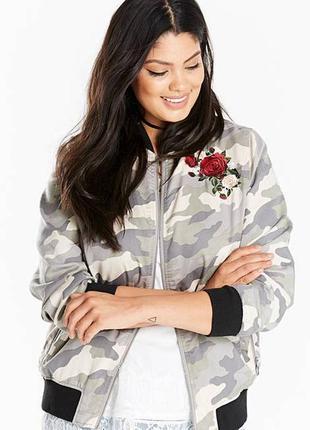 Куртка ветровка бомбер с вышивкой р. 56