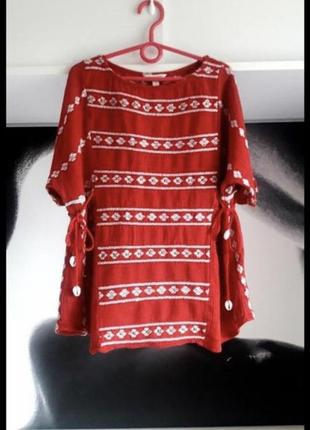 Стильная вышитая блуза ,рубашка, вышиванка