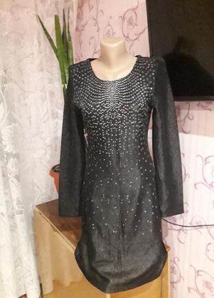 Платье с люрексом,блестящее(сукня)