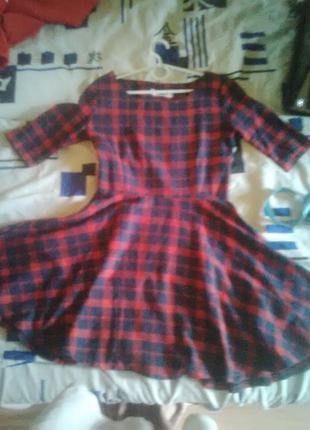 Платье в шотландском стиле в клетку