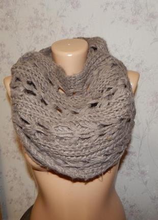 New look хомут снуд шарф модный стильный тёплый вязаный
