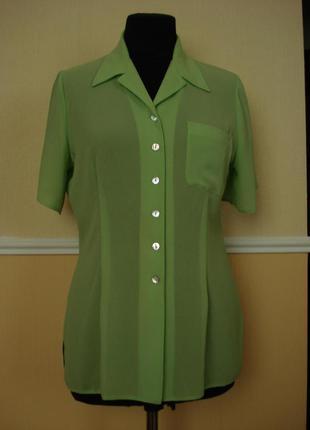 Летняя кофточка шифоновая блузка с коротким рукавом.