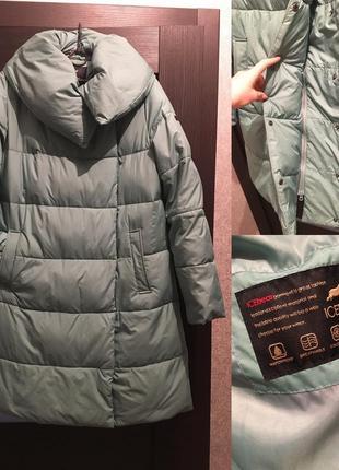 Фирменный пуховик куртка  био пух ментол пальто тёплый icebear