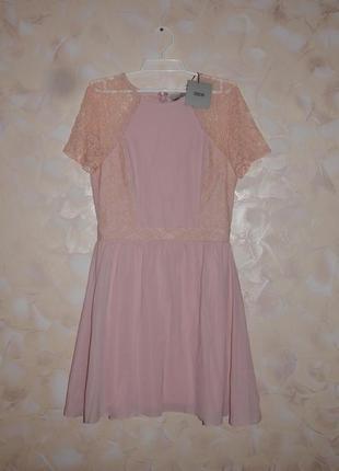 Нежное платье от asos с кружевом