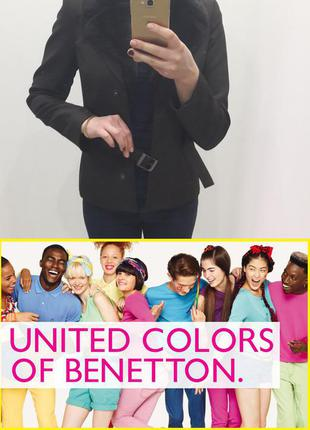 Пиджак- куртка с мехом от united colors of benetton, м