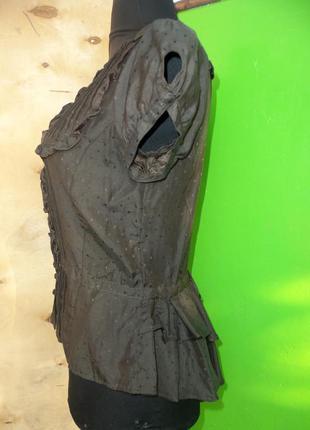 Тончайшая  блуза mng  хлопок  шелк  xs/s2 фото