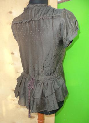Тончайшая  блуза mng  хлопок  шелк  xs/s3 фото
