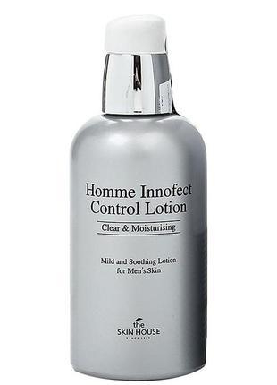 Мужской лосьон после бритья the skin house homme innofect control lotion 130мл.