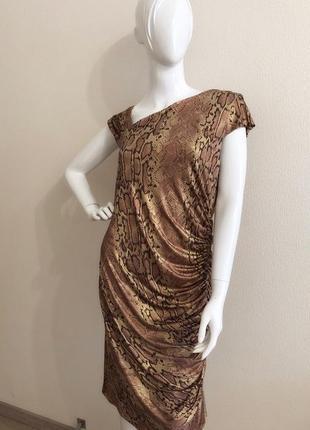 Платье принт рептилия