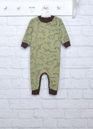 Флисовый ромпер пижама на мальчика