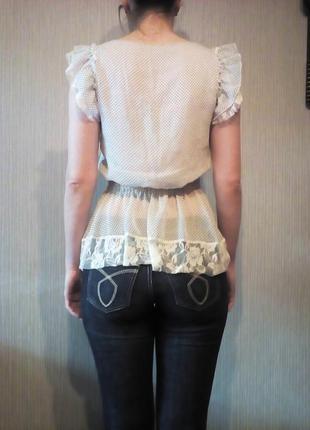 Нежная блуза sweet miss c кружевом s-m