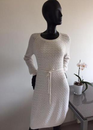 Шикарное белоснежное теплое платье h&m