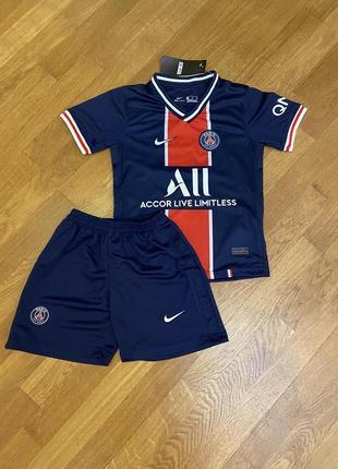 Детская футбольная форма псж (основная) с печатью неймар и №10, новый сезон 2020-2021