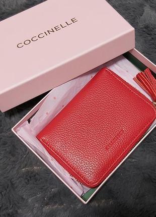 Брендовый кошелёк визитница coccinelle
