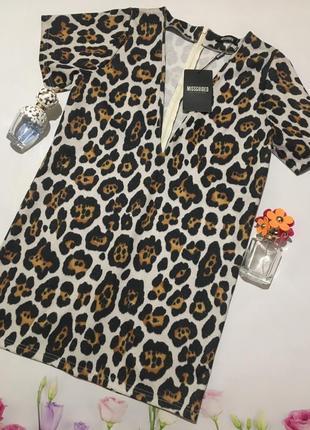 Крутое вечернее нарядное платье туника в актуальный леопардовый принт