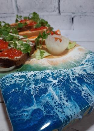Эко посуда сервировка стола деревянная доска для суши сырная нарезка лофт