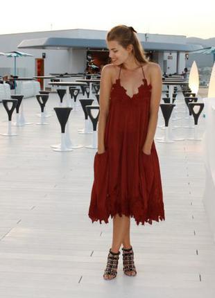 Шикарное платье h&m хлопок