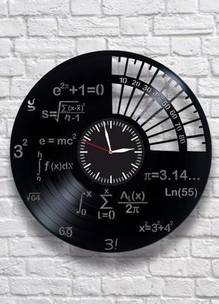 """""""математика"""" - настенные часы из виниловых пластинок. уникальный подарок! в наличии!"""