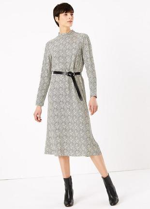 Платье из вискозы с кармашками