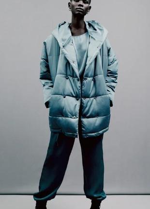 Голубая куртка от zara