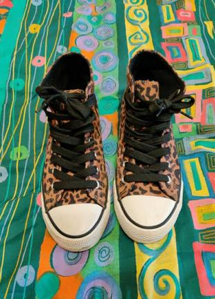 Кеды с леопардовой расцветкой