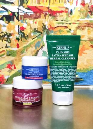 Набор 3ед.- очищающий гель для лица, ночная маска лифтинг, увлажняющий крем без масел