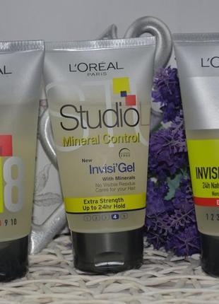 Гель для волос l'oreal paris studio line invisi'hold natural clear gel4 фото