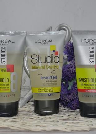 Гель для волос l'oreal paris studio line invisi'hold natural clear gel