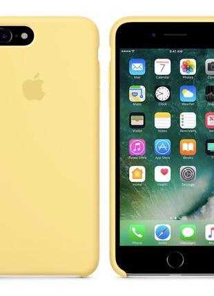 Ярко желтый силиконовый чехол apple silicone case для iphone 7 plus/8 plus
