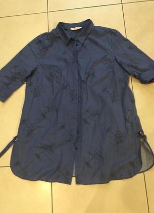 Блузка, блузочка, рубашка удлиненная натуральная