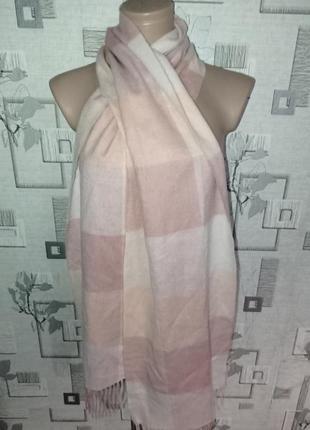 Шерстяной с кашемиром шарф шаль палантин barbour