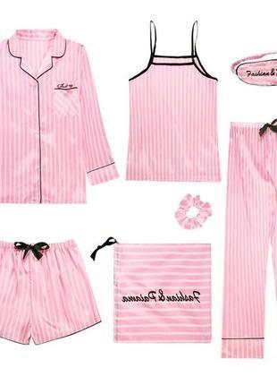 Шёлковая пижама 7 единиц в 1