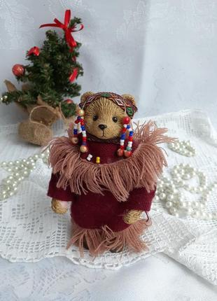 Shudehill giftware bear мишка индеец статуэтка винтаж медведь