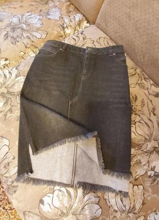 Юбочка джинсовая, тянется