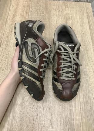 Skechers 39 р кожа кроссовки кросівки кросы ботинки