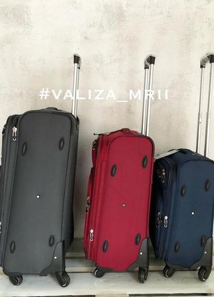Тканевые чемоданы польша, 4 колёса, якісні тканеві валізи2 фото