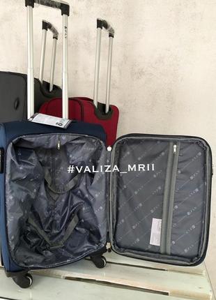 Тканевые чемоданы польша, 4 колёса, якісні тканеві валізи6 фото