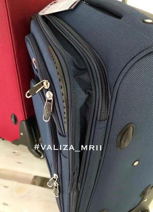 Тканевые чемоданы польша, 4 колёса, якісні тканеві валізи3 фото