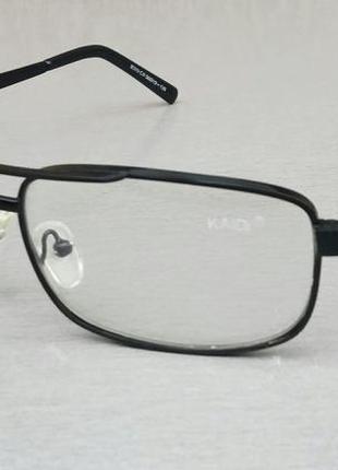 Kaidi очки унисекс имиджевые оправа для очков в черной металлической оправе