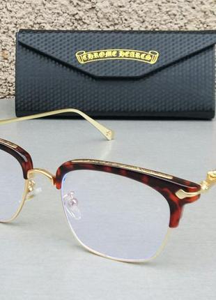 Chrome hearts очки унисекс имиджевые оправа для очков в золотой металлической оправе