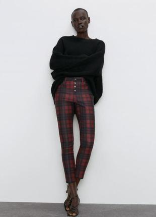 Очень стильные брюки в клетку zara