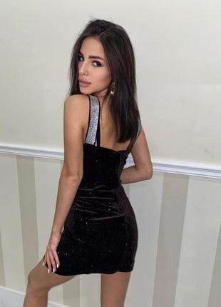 Красивое вечернее платье праздничное коктельное нарядное платье бархатное2 фото