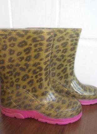 Гламурные тигровые резиновые чоботы 4fbff67149a29