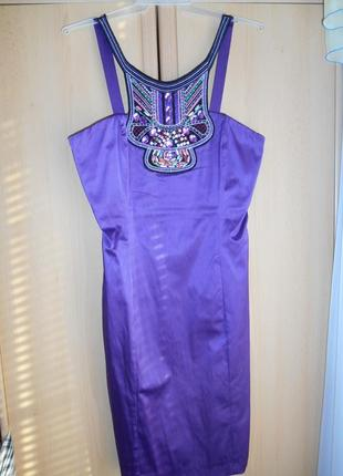 Шикарное декорированное платье