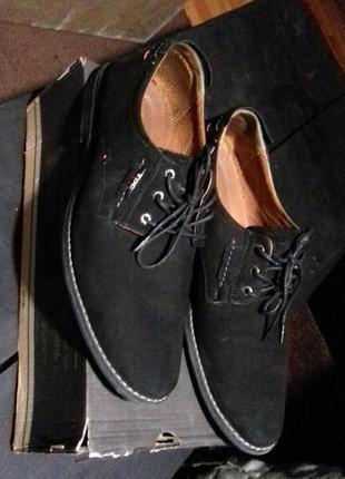 Стильные туфли натуральный нубук