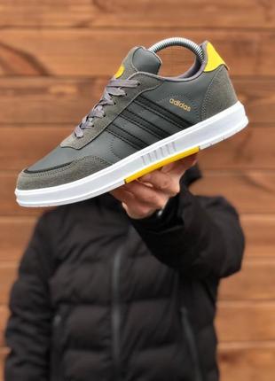 Топовые мужские кроссовки adidas очень удобные цвета хаки