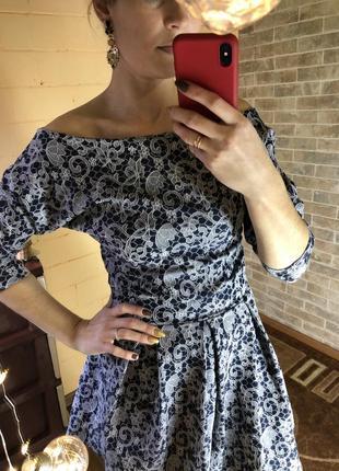 Винтажное платье стиляги
