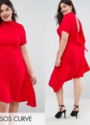 Ассиметричное платье asos с разрезом на спине